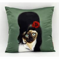 Empire Art Pets Rock Tattoo Throw Pillow 18-inch