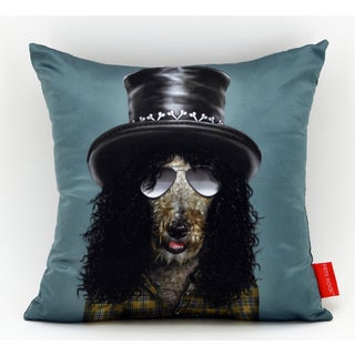 Empire Art Pets Rock Gnash Throw Pillow 18-inch