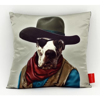 Empire Art Pets Rock Cowboy Throw Pillow 18-inch