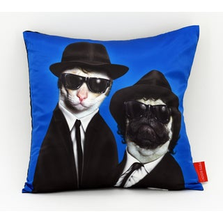 Empire Art Pet Rock Brothers Throw Pillow 18-inch