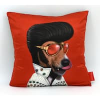 Empire Art Pets Rock Vegas Throw Pillow 18-inch