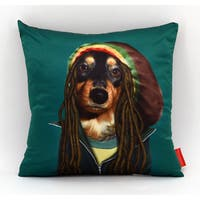 Empire Art Pets Rock Reggae Throw Pillow 18-inch