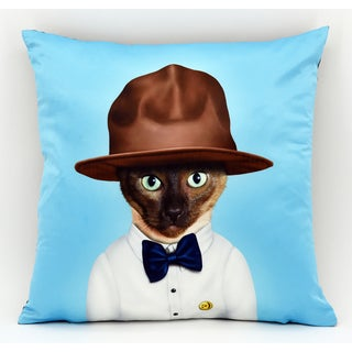 Empire Art Pets Rock 'Purrell' Pillow Unframed Art