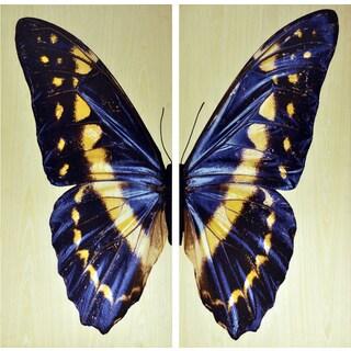 Empire Art 'Butterfly' UV-printed Wall Art