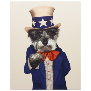 Empire Art Pets Rock 'Uncle Sam' High-resolution Multicolored Giclee-printed Canvas