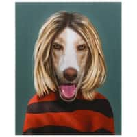 Empire Art Pets Rock 'Grunge' High-resolution Giclee Printed on Cotton Canvas