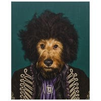 Empire Art Pets Rock 'Psychedelic' High Resolution Giclee Printed Canvas