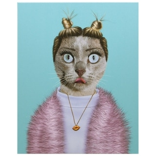 Empire Art Pets Rock 'Twerk' High Resolution Giclee Printed on Cotton Canvas