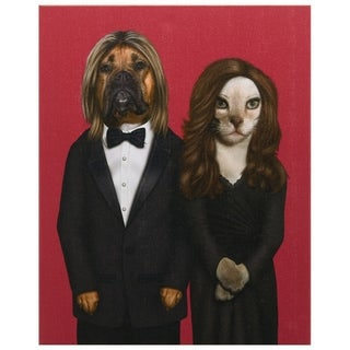 Empire Art Pets Rock 'Hollywood' High-resolution Giclee Printed Canvas