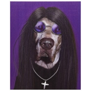 Empire Art Pets Rock 'Metal' High-resolution Giclee Printed on Cotton Canvas
