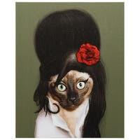 Empire Art Pets Rock 'Tattoo' High Resolution Giclee Print on Cotton Canvas