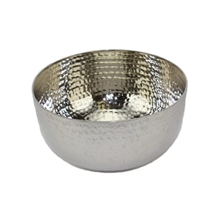 Nickel-plated Aluminum Small Deep Bowl