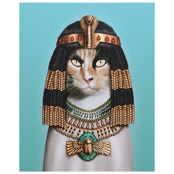 Empire Art Pets Rock 'Cleopatra' High-resolution Giclee Printed on Cotton Canvas