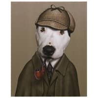 Empire Art Pets Rock 'Detective' High-resolution Giclee Printed on Cotton Canvas