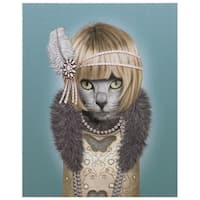 Empire Art Pets Rock 'Daisy' High-resolution Cotton Canvas Giclee Print