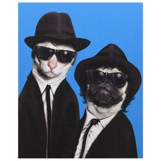 Empire Art Pets Rock 'Brothers' High Resolution Giclee Printed Canvas