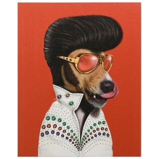 Empire Art Pets Rock 'Vegas' High-resolution Giclee Printed on Cotton Canvas