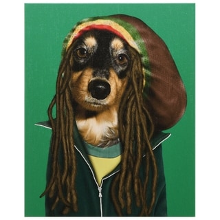 Empire Art Pets Rock 'Reggae' High-resolution Giclee Printed on Cotton Canvas