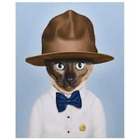 Empire Art Pets Rock 'Purrell' High Resolution Giclee Printed on Cotton Canvas