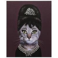 Empire Art Pets Rock 'Breakfast' High-Resolution Giclee Printed Canvas