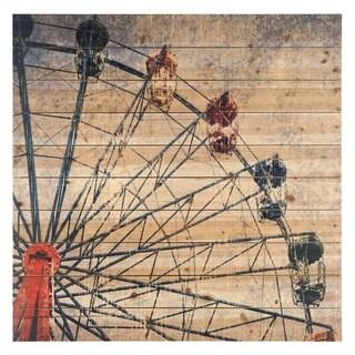 Empire Art 'Merriment' Fine Art Giclee Printed on Solid Fir Wood Planks