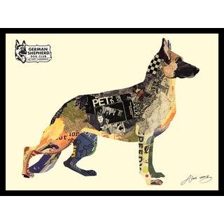 Empire Art Alex Zeng 'German Shepherd' Framed Collage Art