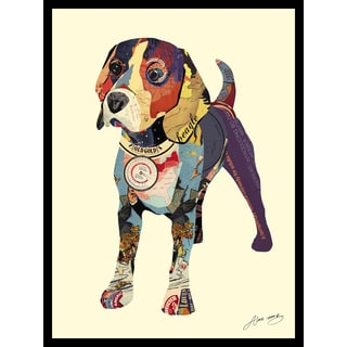Empire Art Alex Zeng 'Beagle' Framed Collage Art