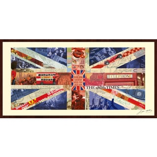 Alex Zeng 'Union Jack Collage' Framed Empire Art