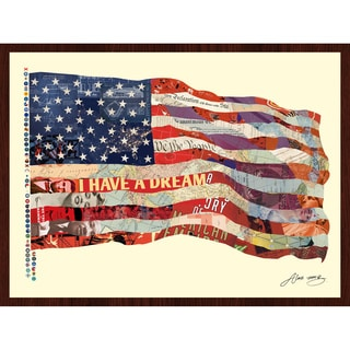 Empire Art Alex Zeng 'Old Glory' Framed Collage Art