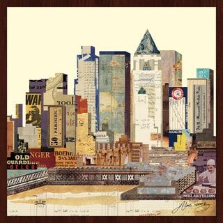Empire Art Alex Zang 'New York City Skyline 1' Framed Collage Art