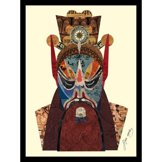 Empire Art Alex Zeng 'Beijing Opera Mask #2 Collage' Framed Art