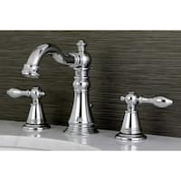 Classic Widespread Polished Chrome Bathroom Faucet