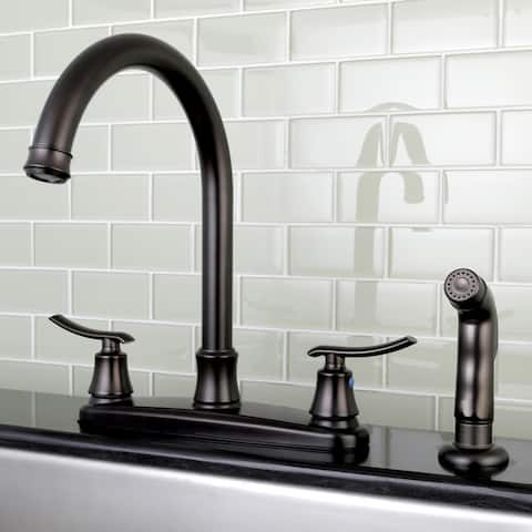 Euro Oil Rubbed Bronze Kitchen Faucet with Side Sprayer