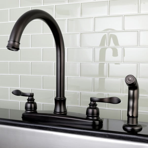 Shop Designer Oil Rubbed Bronze Kitchen Faucet With Side Sprayer