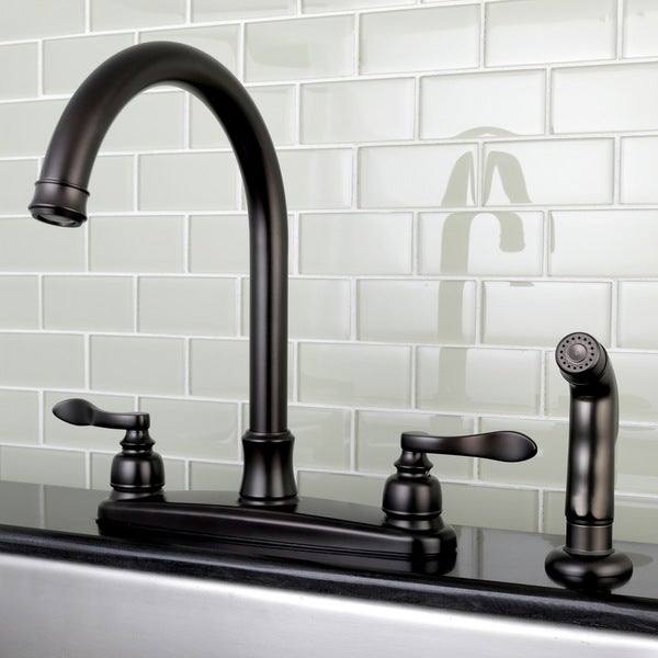 Delicieux Designer Oil Rubbed Bronze Kitchen Faucet With Side Sprayer