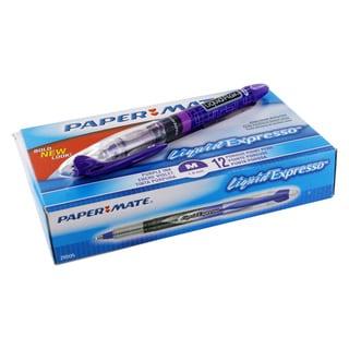 Paper Mate Liquid Flair Purple Plastic Medium-point Stick Pens