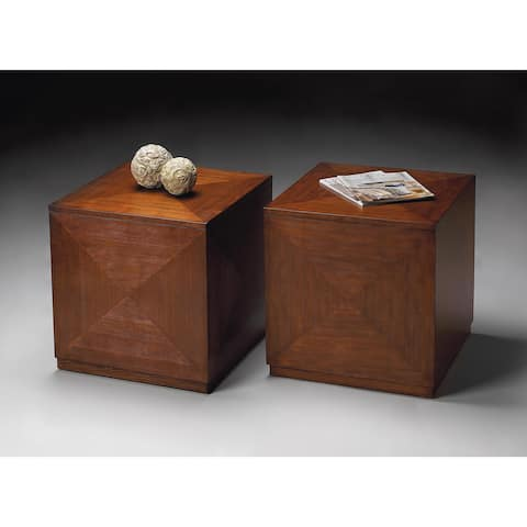 Butler Transitional Square Bunching Cube - Medium Brown