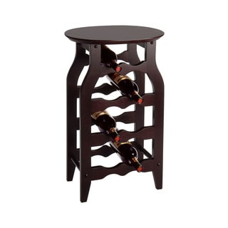 Winsome Wooden Espresso-finish 8-bottle Wine Storage Rack