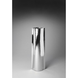 Butler Daphne I Silver Aluminum Modern Floor Vase