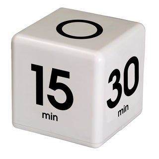 Teledex Inc White Plastic 5/15/30/60-minute Preset Cube Timer