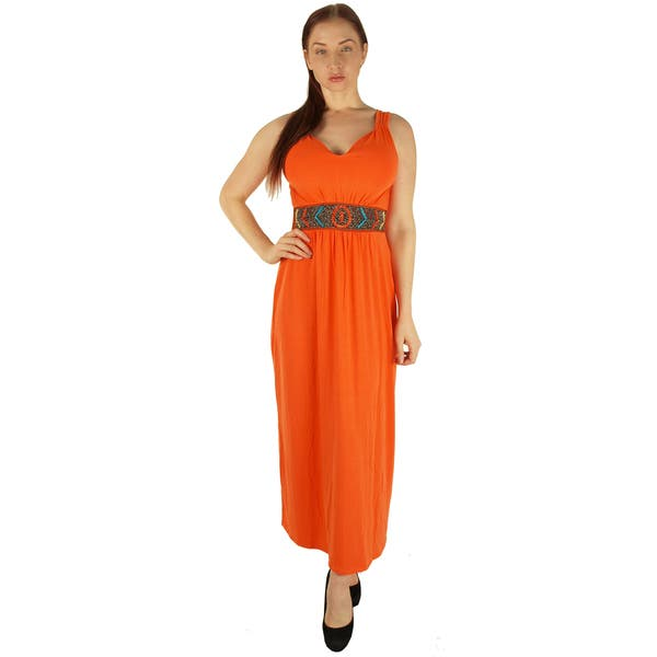 Shop Special One Women\'s Orange Polyester/Rayon/Spandex ...