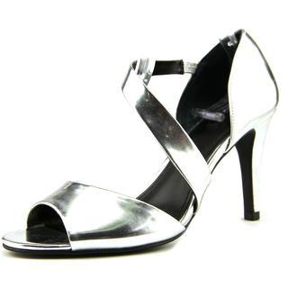 Alfani Women's Mavida Silvertone Faux Leather Sandals