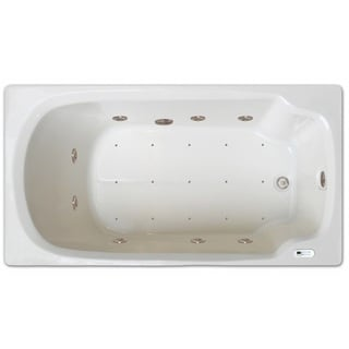 Signature Bath White Acrylic 60-inch x 32-inch Drop-in Whirlpool/Air Combo Bath