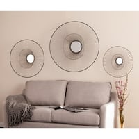 Holly & Martin Whoso Mirrored Wall Sculptures -  3pc Set - Silver