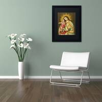 Sergio Cruze 'The Virgin and Son II' Matted Framed Art