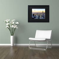 Philippe Hugonnard 'NYC at Sunset' Matted Framed Art