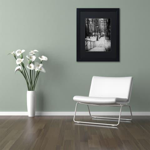 Philippe Hugonnard 'Staircase Montmartre' Matted Framed Art