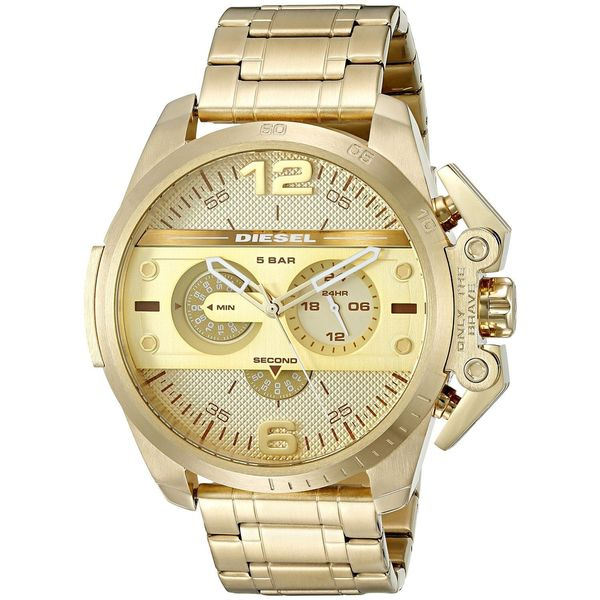 0ce5e6b09 Shop Diesel Men's DZ4377 'Ironside' Chronograph Gold-Tone Stainless ...