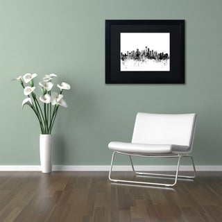 Michael Tompsett 'Seattle Washington Skyline B&W' Matted Framed Art