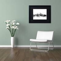 Michael Tompsett 'Seattle Washington Skyline B&W' Matted Framed Art